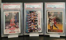 PSA 9 Michael Jordan 1990 Fleer #26 + 1996 Topps #139 PSA 8 + 1993 PSA 9 (3)