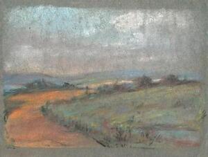 IMPRESSIONIST ENGLISH LANDSCAPE Pastel Drawing MARCUS ADAMS c1950