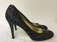 Juicy Couture Black sequence  heels Pumps Size US 9 M