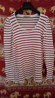 ZARA T-shirt rayé rouge et blanc taille M