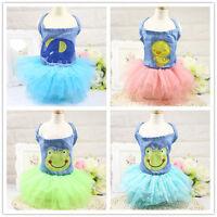 Pet Small Puppy Dog Tutu Dress Lace Skirt Cat Princess Summer Clothes Apparel