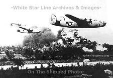 Photo: 5x7: B-24 Liberators, Low Level Bomb Run: Ploesti Mission, 1943