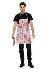 Blood Splatter Bloody Apron Halloween Costume Butcher Nurse Doc Chef Zombie V127