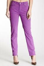 NWT Not Your Daughter's Jeans NYDJ Sheri Skinny in Viola Purple Sueded Twill 8P