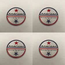 "4 x American Racing Center Cap Twin Star Decals Sticker 1.5"" / 36mm"