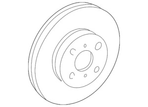 Genuine Toyota Rotor 43512-20711