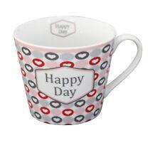 Krasilnikoff Tasse Happy Cup rayures Rose Rose Blanc Porcelaine Gobelet étoile