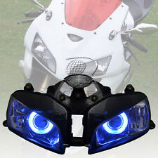 Halo Eye HID Projector Blue Lamp Headlight Assembly for Honda CBR600RR 03-06 04