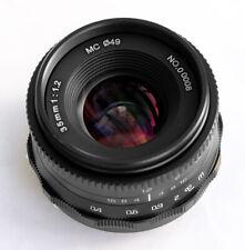 Hengyijia 35mm F1.2 HD.MC Manual Focus LENS Black f/ Panasonic Olympus Micro 4/3