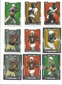 2015 BOWMAN FOOTBALL ROOKIE'S RC'S - BASE or BLACK PARALLEL - WHO DO YOU NEED!!!