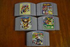Lot of 5 Nintendo 64 Games Super Smash Bros Mario Kart Mario Party Mario 64 MORE