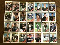 1988 PITTSBURGH PIRATES Topps COMPLETE Baseball Team Set 28 Cards BONDS BONILLA!