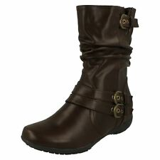 Ladies Down To Earth Flat Calf Boots
