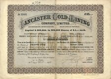 JOHANNESBURG (RSA) SCRIPOPHILIE / LANCASTER GOLD MINING CY/ ACTION BOURSE 1899