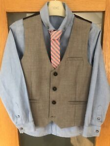 Next Signature Boys Shirt Tie And Waistcoat Age 8 Years. WORN ONCE