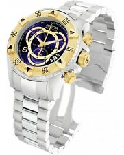 Invicta 1878 Reserve Excursion Touring Chronograph SS Blue Dial Men's Watch