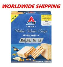 Atkins Lemon Vanilla Protein Wafer Crisps 6.35 Oz 5 Ct WORLDWIDE SHIPPING
