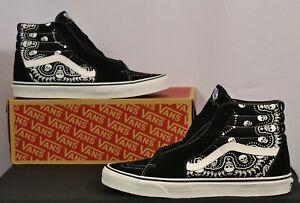 VANS SK8-Hi Bandanna Black VN0A32QGD9S Men's 11.5 Sneakers Shoes Paisley Print
