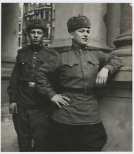 Russia, russian soldiers Vintage silver Print Tirage argentique  18x18  Ci