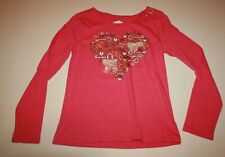 New Justice Girls Top Heart Shaped with Gold Keys 12 Long Sleeves Back Cut Out