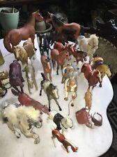 Vtg 21 Hard Plastic Horses Hartland Marchon Imperial Bluebox Kid Kore HG Toys