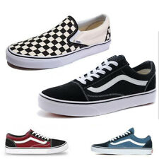 ae0ed0f6aa Women Men Black Van S Old Skool Skate Shoes Classic Canvas Sneakers All Size