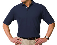 "Airak Polo Shirt - XL - 44"" - 46"" Chest - New - Navy or White"