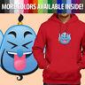 Aladdin Laughing Funny Genie Emoji Disney Unisex Mens Pullover Hoodie Sweater