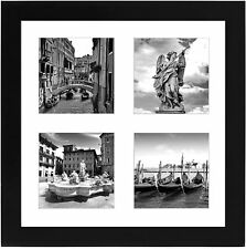 Americanflat 10x10 Collage Picture Frame Black Four 4x4 Display Wall Tabletop