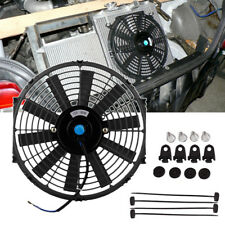 "Universal 12"" 80W Car Radiator Cooling Fan Electric Water Cooler 12V w/ Fittings"