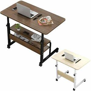 Portable Mobile Adjustable Bedside Bed Laptop Computer Office Study Table Desk