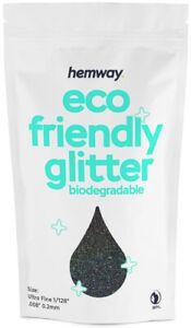 "Hemway Eco Friendly Glitter Biodegradable Cosmetic Safe & Craft - 1/128"" - 100g"