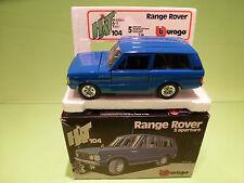 BBURAGO 1:24 - RANGE ROVER  BLUE   0104  - IN ORGINAL  BOX   - MINT CONDITION