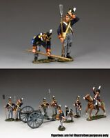 KING & COUNTRY THE AGE OF NAPOLEON NA340 BRITISH ROYAL ARTILLERY GUNNERS SET A