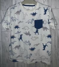 Boys Age 7-8 Years - Kite Organic Cotton T Shirt Top - Dinosaurs Patterned