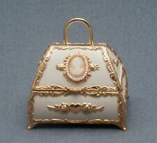 Splendid Music Boxes Ivory Purse With Cameo And Pearls, My Heart Will Go On