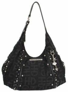 Harley-Davidson® Women's Black Embellished Jacquard Hobo Purse Bag HD3426J