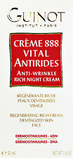 Guinot 888 Anti-wrinkle Rich Night Cream Creme 50ml(1.7oz) Brand New