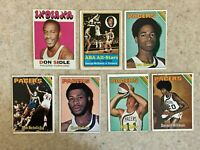 Topps 1971-1975 Indiana Pacers 7 Card Lot