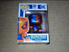 FUNKO, POP METALLIC DEATHSTROKE, PX PREVIEWS EXCLUSIVE, HEROES #49, FIGURE, NM