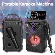 More details for portable bluetooth karaoke machine party lights mics led light speaker songs mp3