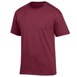 Champion Men's (Garnet) Soft Hand Cotton Blank T-Shirt