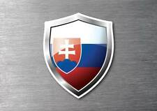 Slovakia flag shield sticker 3d effect quality 7 year water & fade proof
