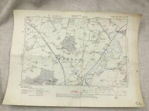 1911 Antique Map of Sussex Hamsey Village Barcombe Offham Chiltington