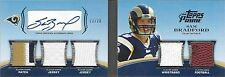 SAM BRADFORD 2011 TOPPS PRIME LEVEL 1 5 PIECE ROOKIE PATCH AUTO BOOK RC #D 13/20