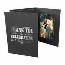 Thank You 4x6 Vertical Photo Folders 25 Pack (Same Shipping Any Qty)