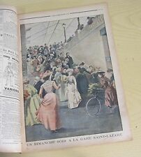 Le petit journal 1901 560 un dimanche soir à la gare Saint-Lazare