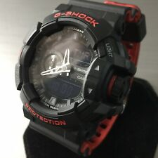Casio G-SHOCK Watch GA-400HR Black Red World Time Light Alarm Genuine