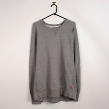 Homme Levis Basic Jersey Sweatshirt in Grey Red Tab Sweater Pull XL X-Large