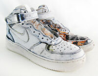 Nike Air Force 1 Basketball Sneakers - Maniac Custom Mode Enabled - Youth Size 7